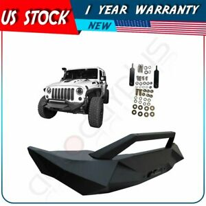 Front Bumper For Jeep Wrangler Jk 07 18 Black Textured Guard Pickup Truck
