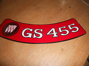 1970 1971 1972 1973 1974 Buick Gs Gran Sport Gs 455 Gs455 Air Cleaner Lid Decal