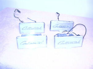 1959 1960 Lincoln Ash Trays 4 Piece Back And Front Scripted Continental 4 20