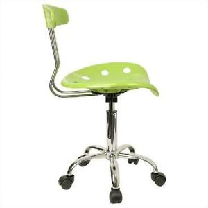 Flash Furniture Computer Task Chair With Tractor Seat Metal Frame Apple Green