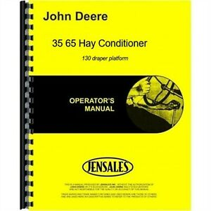 John Deere 35 65 Hay Conditioner Owners Operators Manual Ome65969