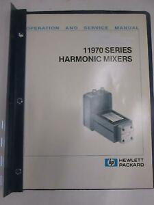 Hp 11970 Series Harmonic Mixers Operation And Service Manual Used