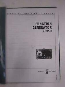 Hp 3310a b Function Generator Operating And Service Manual Used