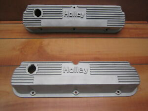 Holley Ford 289 302 351w Vintage Finned Nostalgic 140r 55b Aluminum Valve Covers