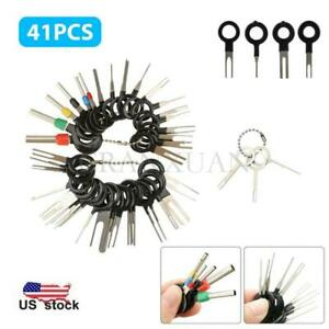 41pcs Wire Terminal Removal Tool Kit Car Electrical Wiring Crimp Connector Pin