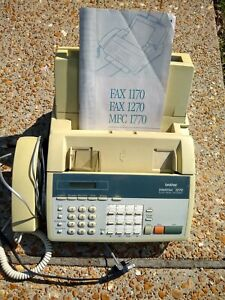 Brother Intellifax 1270 Fax Machine And Phone Works
