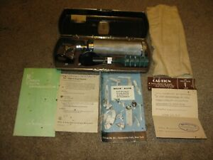 Vintage Welch Allyn Diagnostic Otoscope Ophthalmoscope Set W Bakelite Case