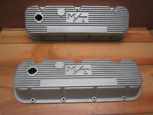 Mickey Thompson Big Block Chevy M t Finned Aluminum Valve Covers 396 427 Vintage