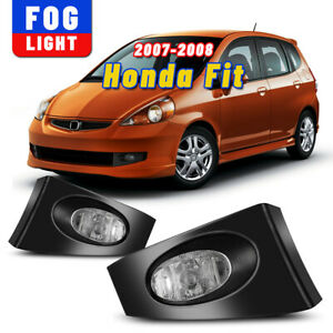 Fog Light For 07 08 Honda Fit Clear Driving Lamp Assembly Wiring Switch Kit Pair