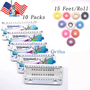 Dental Braces Orthodontic Brackets Mini Roth 022 345hook Power Chain Elastics Us