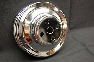 Spectre 4498 Chrome Long Water Pump Pulley 1969 2000 Chevy Bbc Lwp Dual Groove