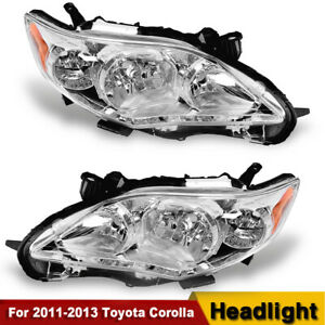 For 2011 2012 2013 Toyota Corolla Headlights Headlamps Replacement L r