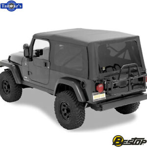 2004 2006 Jeep Wrangler Unlimited W Tinted Windows Sailcloth Replace a top blk