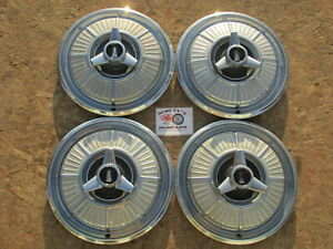 1965 Plymouth Fury 14 spinner Wheel Covers Hubcaps Set Of 4