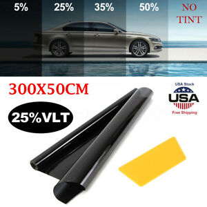 Window Tint Film Sunshade 25 Vlt Uncut Roll Auto Car Home Office Glass Anti Uv