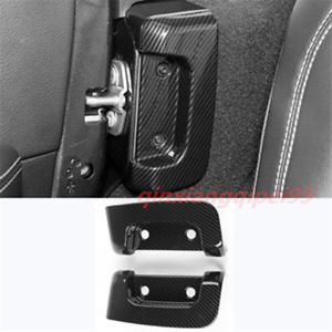 2pcs Car Interior Door Lock Protection Cover Trim For Jeep Wrangler Jl 2018 2020