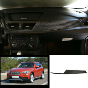 For Bmw X1 2010 2015 E84 Real Carbon Fiber Central Console Dashboard Strip Trim