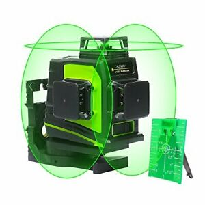 Huepar 3d Green Beam Self leveling Laser Level 3x360 Cross Line Three plane