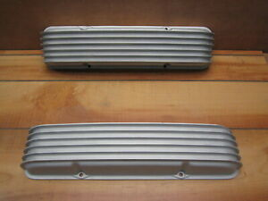 Cal custom 40 2000 Sb Chevy 283 302 327 350 Aluminum Finned Valve Covers Vintage