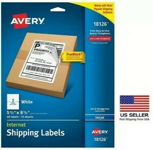 Avery Internet Shipping Address Labels Pack Of 20 Labels Laser Inkjet Printers