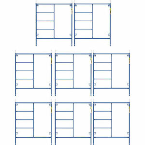 Metaltech M mf7260psk8 Saferstack 6ft X 5ft Mason Frame Kit 8 pack
