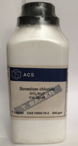 Strontium Chloride Reagent Acs Crystals High Purity 500 Grams sealed