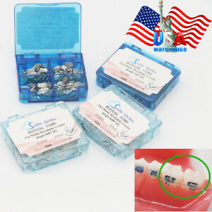 Dental Orthodontic 1st 2nd Molar Buccal Tube Non conv Bonding Roth Mbt 022