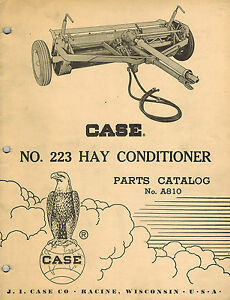 Case Vintage 223 Hay Conditioner Parts Manual new