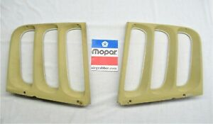 1973 73 1974 74 Dodge Charger Se 1 4 Quarter Window Exterior Louvers Set Gold