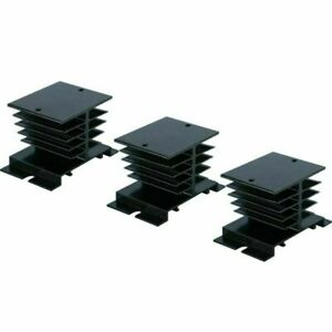 3 Pcs Aluminum Heat Sink For Solid State Relay Ssr 10a 25a 40a 80 X 50 X 50mm