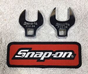 Lot Of 2 Snap On 3 8 Drive 3 4 Fco24 13 16 Fco26 Crowfoot Wrench Mint