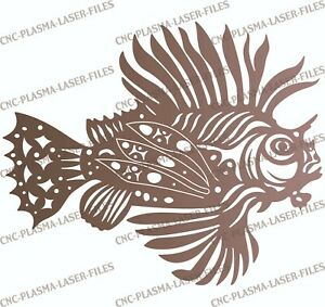 Fish Dxf Sign For Plasma Laser Waterjet Router Plotter Cut Ready Vector Cnc File