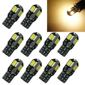10x T10 194 W5w 5730 8led Canbus Car Side Wedge Light Bulb Warm White