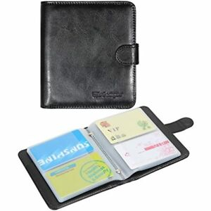 Business Card Book Organizer Premium Pu Leather Wallet Name Credit Id Holder 64