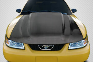 For 1999 2004 Ford Mustang Carbon Creations Cowl Hood 115529