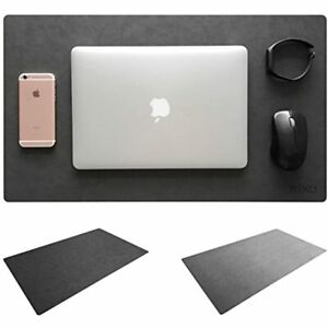 Leather Desk Mat amp Mate 24 quot X 14 quot Non slip Smooth Writing Pad Mouse