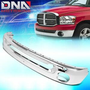 For 2002 2009 Dodge Ram Truck Factory Style Polished Chrome Front Bumper Bar