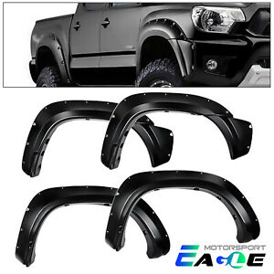 For 2012 2013 2014 2015 Toyota Tacoma Pocket Style 73 5 Black Abs Fender Flares