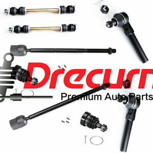8 Pcs Front Sway Bars Lower Ball Joint Tie Rod Ends For 1994 2004 Ford Mustang