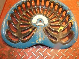 Albion Vintage Cast Iron Tractor Implement Seat
