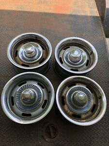 Chevy Rally Wheels Set 4 Gm 15x7 camaro nova monte Carlo Original