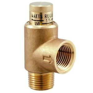 Watts Water Pressure Relief Valve 3 4 In 300 Psi Lead free Threaded Cast Brass
