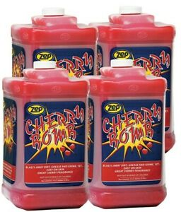 Zep Cherry Bomb Hand Cleaner 95124 128 Ounce case Of 4 Pump Not Included