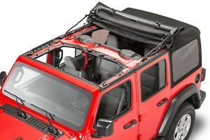 07 18 Jeep Wrangler Jk 4 Door New Acrylic Premium Soft Top Complete Kit Mopar