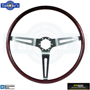 1969 Camaro 69 72 Nova Rosewood 3 Spoke Steering Wheel Oer New