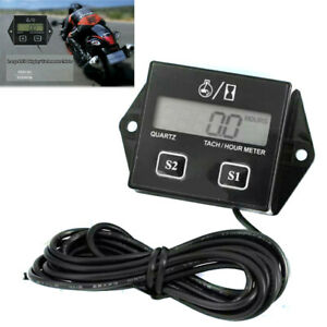 Fit For Motorcycle Digital Display Tachometer Engine Hour Meter Electronic