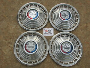 1963 Ford Galaxie 500 14 Wheel Covers Hubcaps Set Of 4