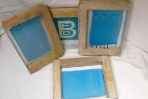 4 8 X 11 Wood Silk Screen Frames For Caps With Mesh 4 Frames