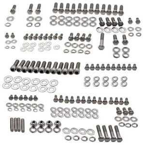 Motors Sbc 350 Small Block Fit For Chevy Stainless Steel Engine Bolt Kit