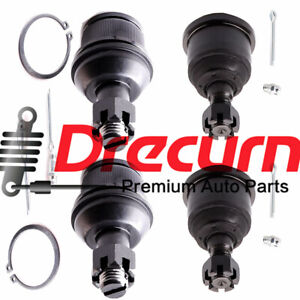4pc Front Upper Lower Ball Joint Set For Dodge Ram 1500 2500 3500 4wd